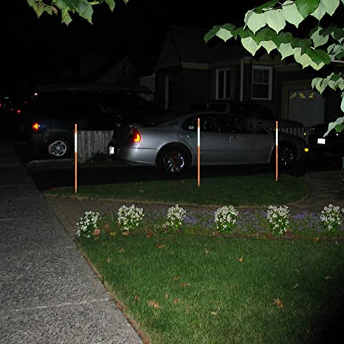 FiberMarker 60-Inch Reflective Driveway Markers Driveway Poles for Easy Visibility at Night 5//16 Inch Diameter Orange 20 Pack