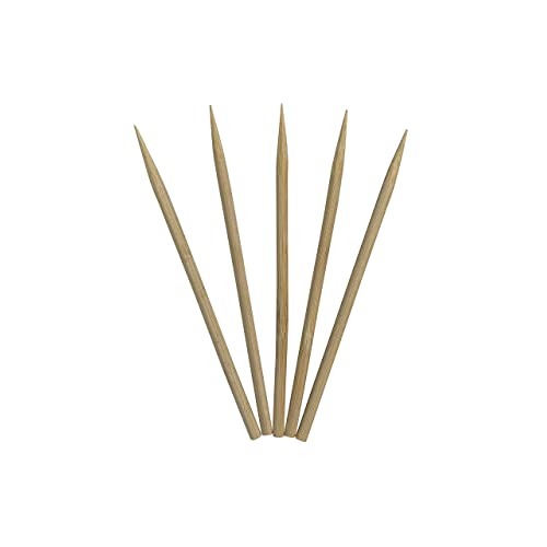 3 Packs of 100 Total 300 Natural Bamboo Wood Paddle Picks Skewers 3.5 Inches