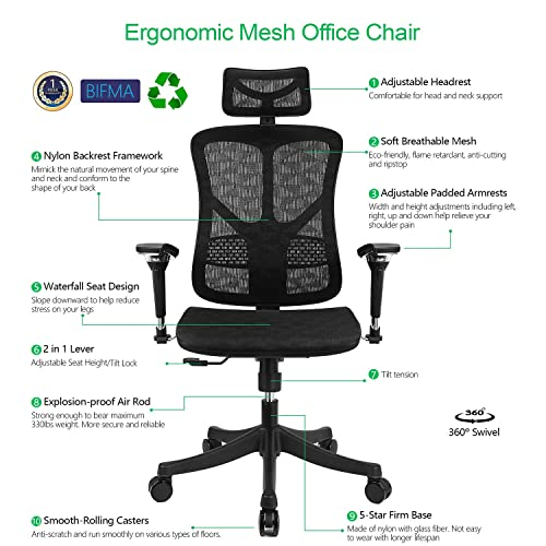 Marvelous Buy Argomax Ergonomic Mesh Office Chair High Back Swivel Theyellowbook Wood Chair Design Ideas Theyellowbookinfo