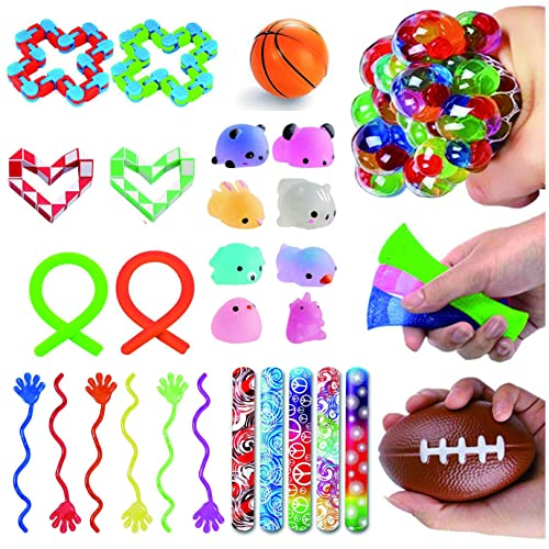 15 Pack Stress Relief Hand Fidget Toys for Kids and ... JVIGUE Sensory Toys Set