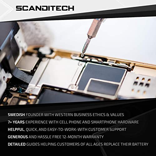 ScandiTech Battery Model iP5 Replacement Kit with Tools Adhesive Instructions /& New 1440 mAh 0 Cycle Battery