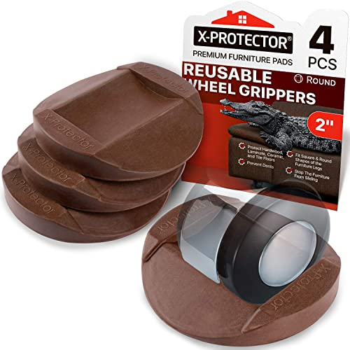 X Protector Premium Rubber Caster Cups, Best Rubber Pads For Furniture