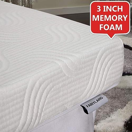Fairyland 3 Inch Memory Foam Mattress Topper Queen Cooling