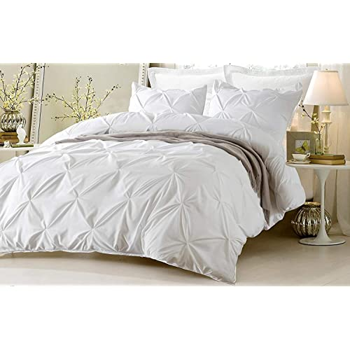 Buy Kotton Culture Pinch Pleated Duvet Cover 100 Egyptian Cotton