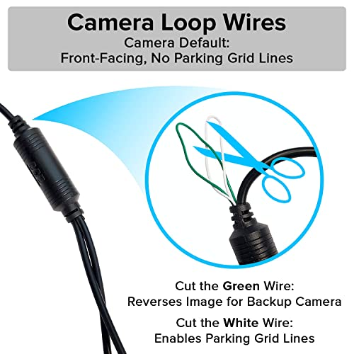 Small License Plate Frame Backup or Front 170° Camera with IR LED Night Vision