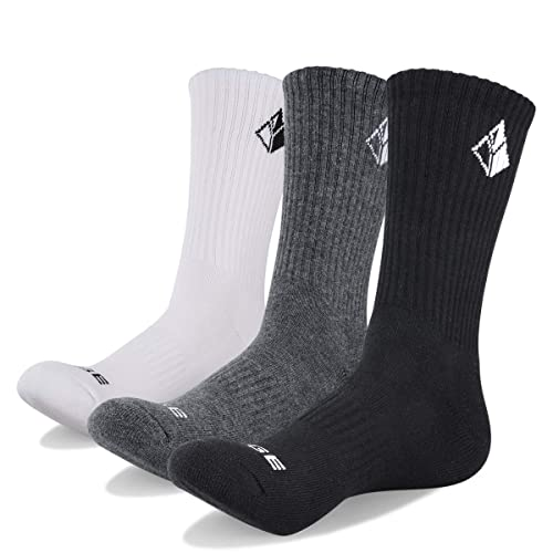 Mens Sport Socks Outdoor Socks 12 Pairs Cotton Cushioned Sole Socks Size 6-11