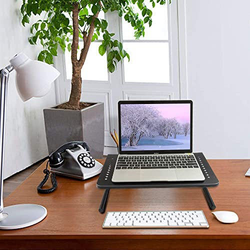 2 Pack Vented Monitor Stand for Computer Laptop Metal Monitor Riser