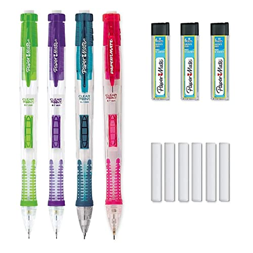 2 Pieces Mech Pencil Eraser Refill Blk Rubber PK3