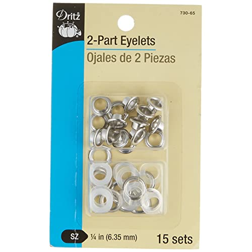 Nickel Dritz 730-65-T 2-Part Eyelets Kit with Tools 1//4-Inch 15-Count
