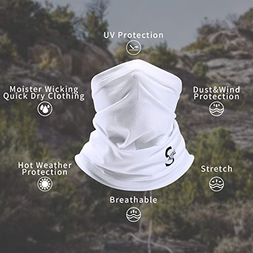 Breathable Fishing Running Cycling Cool Dust Magic Headwear Sun UV Protection Neck Gaiter Thin Windproof Summer Face Scarf