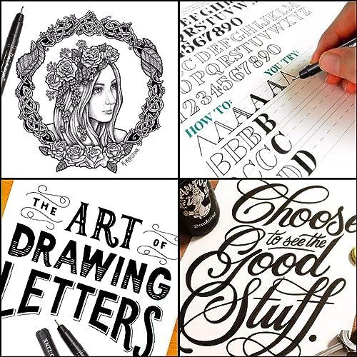 Hand Lettering Pen for Artist Illustration, Dainayw Precision Micro-Line Pens