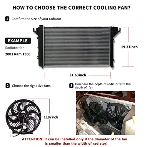10 Mounting KIT 12V OzCoolingParts Radiator Fans Engine Cooling Fans Cooling Electric Thermo Curved Blade Fan