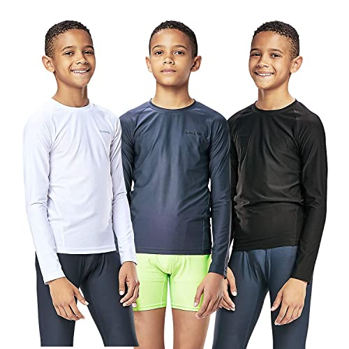 BALEAF Boys Youth Compression Shirts Long Sleeve Undershirts Performance Baselayer