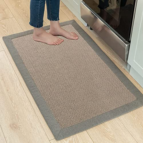 Buy Kitchen Rugs And Mats Washable Non Skid Kitchen Mats For Floor Absorbent Runner Rug For Kitchen Floor Front Of Sink Gray 24 X40 Online In Taiwan B094v1xgb7