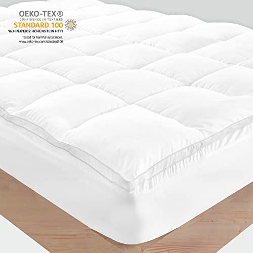 Buy Mattress Topper Queen Pure Cotton Top Plush Quilted Pillow