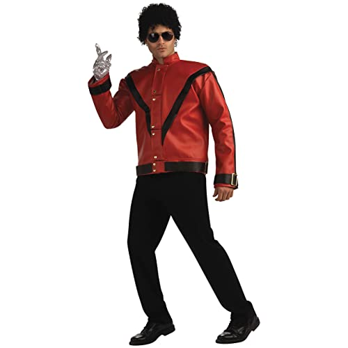 Adult Mens Michael Jackson Thriller Red Faux Leather Pants