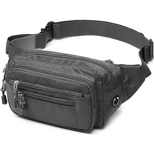 Happy Dinosaur Flower Sport Waist Bag Fanny Pack Adjustable For Travel