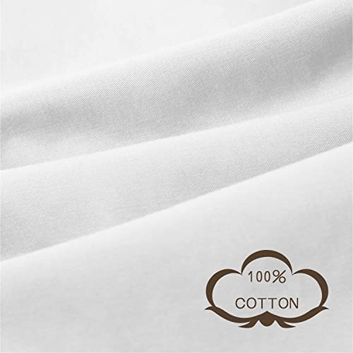 White MAXIJIN Cotton Duvet Cover for Weighted Blanket 36x48 Removable /& Machine Washable Heavy Blanket Cover