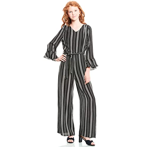Big Girls Designer Fashion Forward Trendy Printed Spring//Summer Jumpsuits with Unique Details and Trims Truly Me Size 7-16