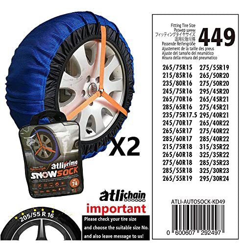 Universal To Fit 185//65 R15 Awarded Which Best Buy Silknet Snow Socks Size 50 185//55 R16 and More