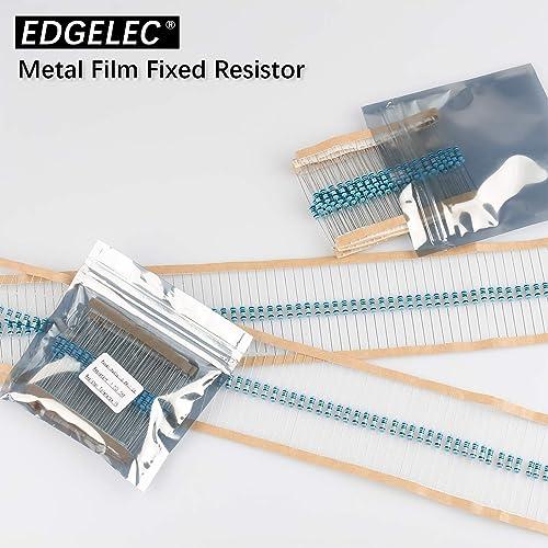 EDGELEC 10K ohm Resistor 1//2w ±1/% Tolerance Metal Film Fixed Resistor