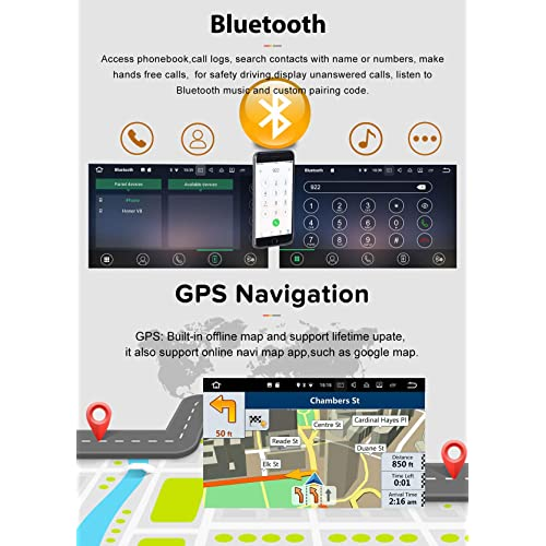 SYGAV Android Car Stereo 8 Core 4G Ram GPS Navigation Radio for 2008-2017 Mitsubishi Ralliart Lancer EVO X Head Unit Without OEM Rockford Fosgate AMP