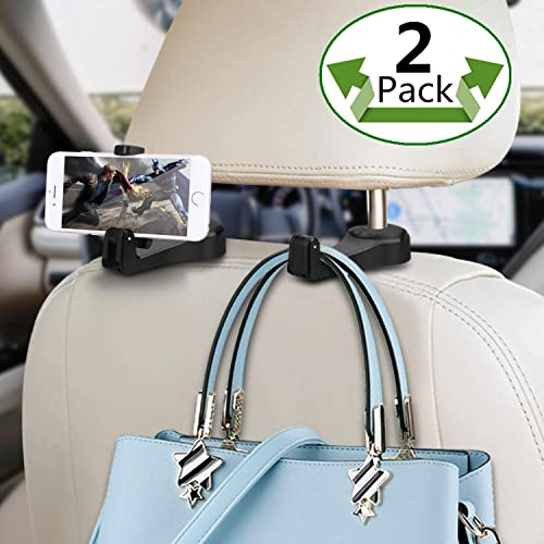 Hang Purse or Grocery Bags Car Headrest Holder with Lock Set of 2 LONGKANG Car Headrest Hook . Car Hanger Hook Black. 4351509814 Car Headrest Hook and Telephone Bracket Two in one Universal Car Hooks