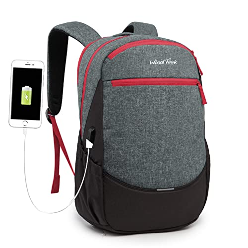 Laptop Backpack 15.6 Inch Computer Rucksack with USB Charging Port for Men Women by Lekesky