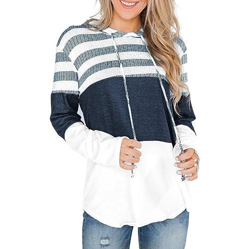 Men Sweatshirt Beautyfine Casual Splicing Button Pullover Long Sleeve Hooded Tops Blouse