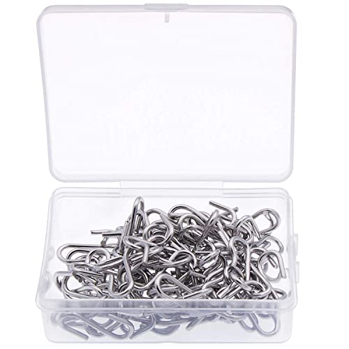 Key Chain Ring and Tags Nydotd 180 Pcs Stainless Steel 1 Inch S Hook Connectors Hanging Jewelry Pet Name Tag Mini Metal S-Shaped Wire Hook Hangers Ornament Hooks for DIY Crafts Wood Circles