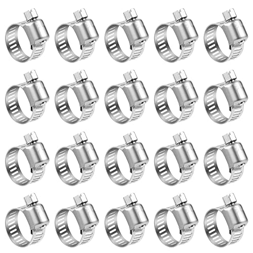 Wingsmoto Fuel Line Hose Tubing Spring Clips Clamps 12mm Steel Band Motorcycle Scooter ATV Pack of 50
