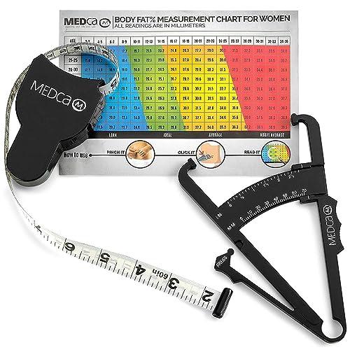 Trimcal 4000 Measure Body Fat Skinfold Tester Caliper Analyzer White