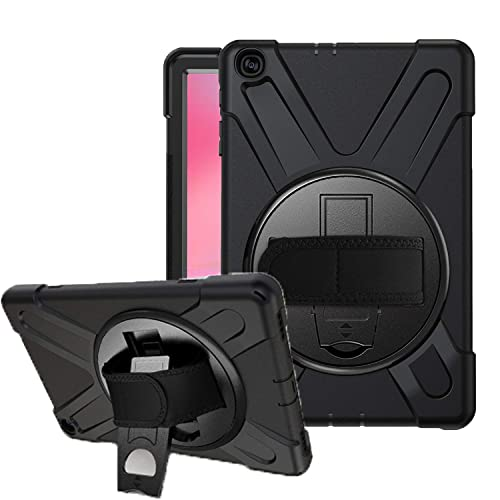 SM-T510//T515 ,Slim Heavy Duty Shockproof Rugged Case High Impact Full Body Protective Case for Samsung Galaxy Tab A 10.1 2019 Release Cantis Galaxy Tab A 10.1 2019 Case Black+Blue
