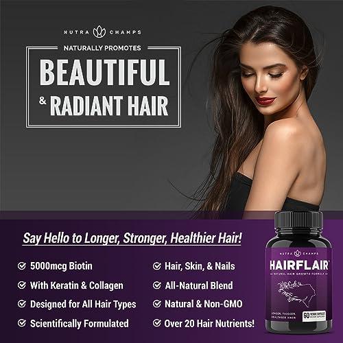 Buy Hairflair Hair Growth Vitamins With Biotin For Longer