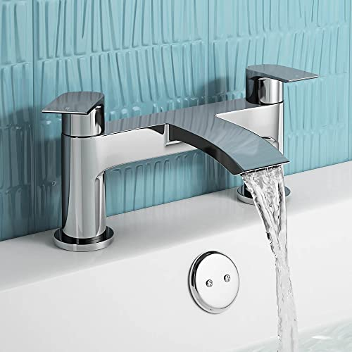 Luckyhome Chrome Bath Filler Mixer Tap Chrome Designer Bath tap Dual Lever