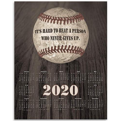 2020 Calendar - Inspirational Baseball