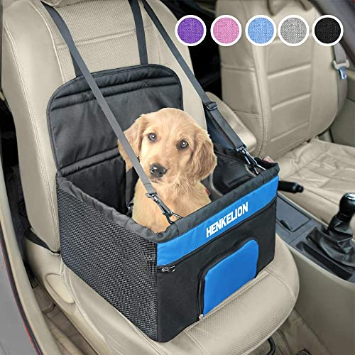 Pet Car Booster Seat Dog Cat Portable Breathable Safety Bag w// Seat Belt Travel