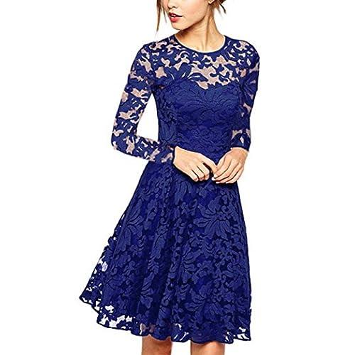 KOJOOIN 1950s Vintage Retro Cocktail Dress Rockabilly Dress Bridesmaid Dress Evening Dress
