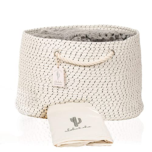 L Extra Large Cotton Rope Basket With