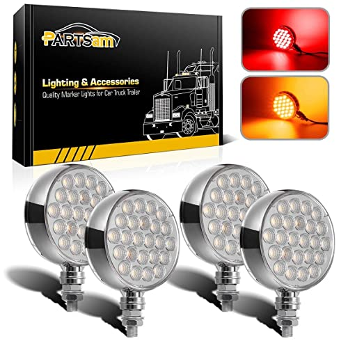 cciyu 5Pcs Yellow Oval Oblong Sealed LED Turn Signal and Parking Light Kit with Light Grommet and Plug Replacement fit for Truck Trailer RV