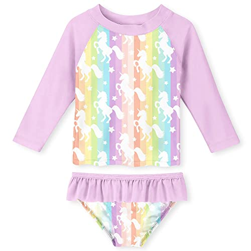 Kiko /& Max Toddler Girls Pink Tucan Rashguard Swim Set Size 2T 3T 4T