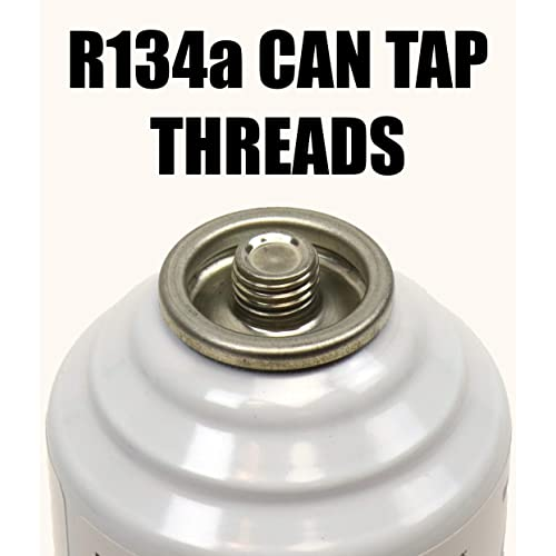 ZeroR R134a Can to R1234YF Port Can Tap with Gauge