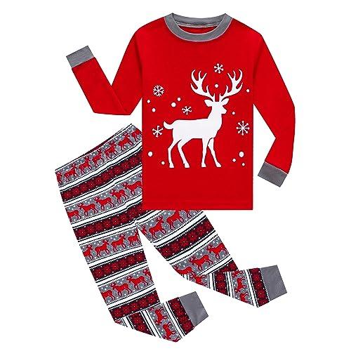 Toddler Little Boys Christmas Holiday Boys Pajama Sleepwear Set