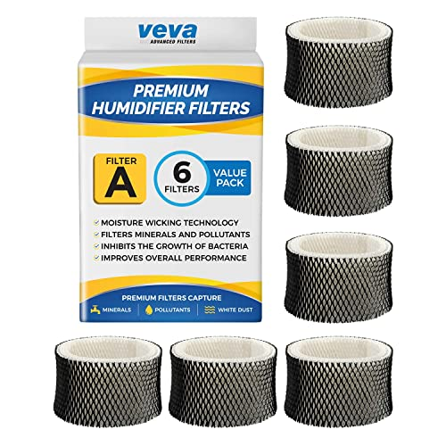 HAC-504 HCM HAC-504AW VEVA 6 Pack Premium Humidifier Filters  for HW Filter A