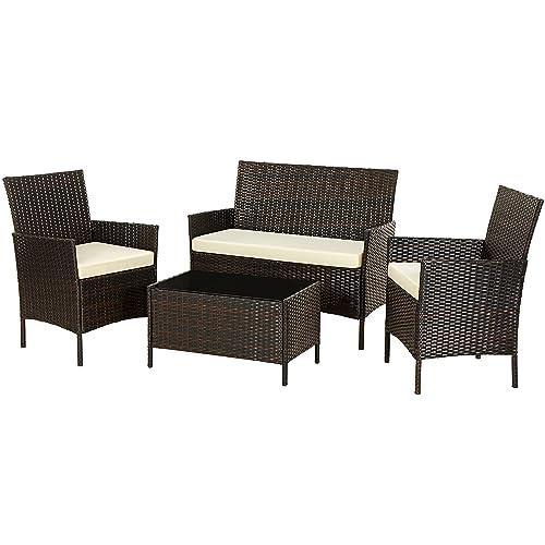 Mics Patio Furniture Set Pe, Grey Wicker Outdoor Furniture Sets
