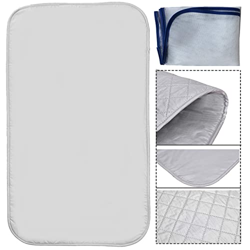 m/·kvfa Heat Resistant Ironing Cloth Protective Insulation Pad Home Ironing Mat Protective Mesh Net Ironing Cloth Guard Protects Clothing Iron Delicate Garments Clothes Laundry Polyester