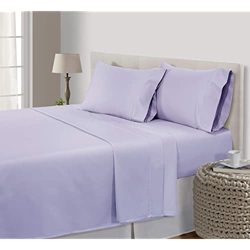 1000 TC 100 Egyptian Cotton Lavender Solid Extra Deep Pocket Bedding Items