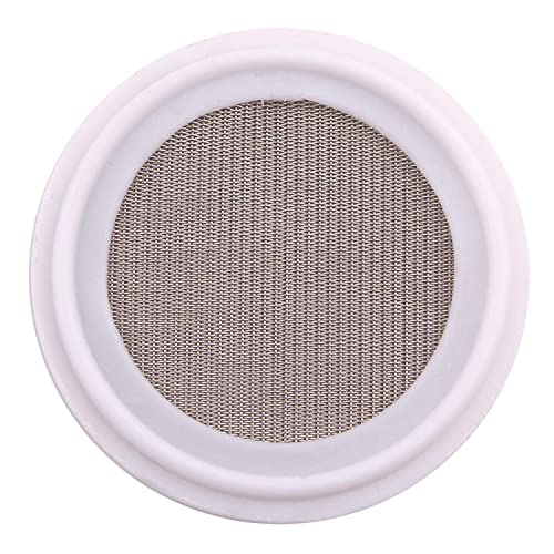 ARTESIAN SYSTEMS 100 Micron VITON//FKM Tri Clamp Screen Filter Gasket 316L VITON With /& FDA Certification Stainless Steel Pharmaceutical Grade Filter Mesh 2 100Uf Micron//150Mesh