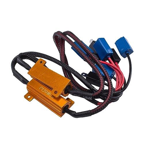 Twidec//2Pcs 50W 8Ohm LED Load Resistors For Fix LED Hyper Flash Turn Signal Light or LED License Plate Lights(Two years warranty)RX24-50W8-2X