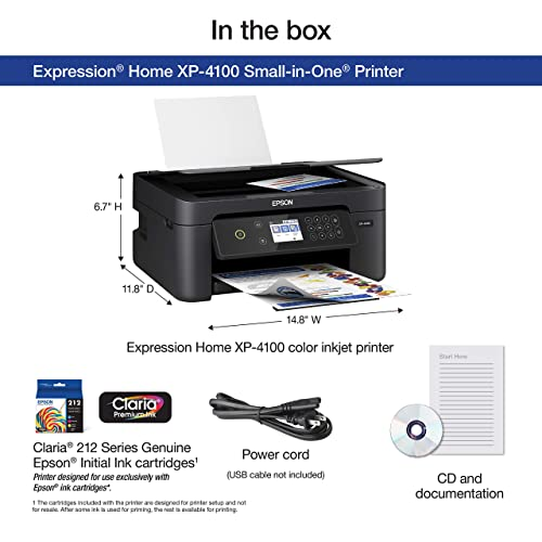 Buy Epson Expression Home XP-4100 Wireless Color Printer